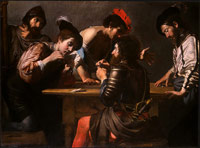 Valentin de Boulogne: Soldiers Playing Cards and Dice